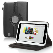 "360 Rotating Leather Case Smart Cover Stand For Barnes & Noble Nook HD 7"" Black"