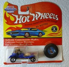 VINTAGE REDLINES w/ BUTTON 1993 HOT WHEELS - RED BARON - MF BLUE