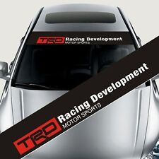 Reflective TRD Front Windshield Banner Decal Car Sticker for Toyota Auto Exterio