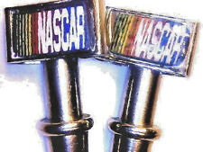 2-NASCAR Metal Cribbage Board Pegs, USA,  Stainless Steel,  Free Velvet Pouch