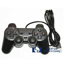 New Black USB Dual Vibration Wired Game Controller Pad Gamepad Joypad PC Laptop