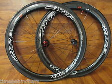 ZIPP FIRECREST 303 700C TUBULAR 11 SPEED SHIMANO WHEEL SET NEW VELOFLEX TIRES