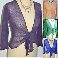 Quality bali SHRUG fine knit net mesh wrap GRINGO FAIR TRADE 40+ col FAST POST x