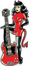 Devil Girl Guitar Sticker Decal Artist Vince Ray VR59
