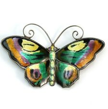 Vintage David Andersen Sterling Silver/925 Norway Enamel Butterfly Pin/Brooch