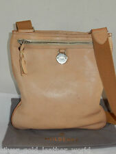 MULBERRY LEATHER CROSS BODY CREAM/LIGHT BROWN SKIN BAG IN BAG