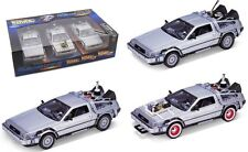 Back to the Future 1 2 3 1:24 Diecast Cars Trilogy Pack Delorean Time Machine