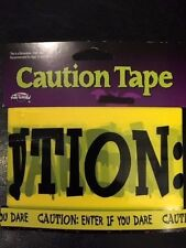 Caution:  Enter If You Dare Barricade Tape -Jokes,Gags- Halloween - 15 feet!