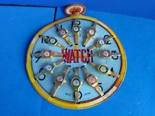 12 VINTAGE KIDS TIN TOY WATCHES ON STORE DISPLAY- JAPAN
