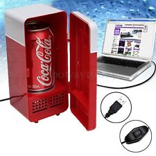 Mini USB Freezer Refrigerator Drink Cans Warmer Cooler Laptop Desktop PC Fridge
