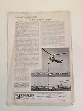 THE LATEST JUMPING AUTOGIRO LEAFLET NOVEMBER 1938 REPRINT THE AEROPLANE