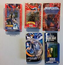 5 FIGURE LOT**The lizard**Green Goblin**Invisible Woman**Robin**Orko**