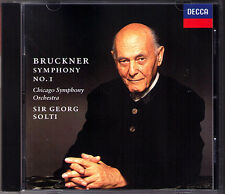 Sir Georg SOLTI: BRUCKNER Symphony No.1 Linz Ed. DECCA CD 1996 Chicago Sinfonie