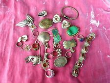 LARGE LOT VINTAGE STERLING SILVER JEWELRY SOLD AS FOUND WEIGHING 9.2 TROY OUNCES
