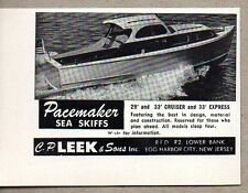 1955 Print Ad Pacemaker Sea Skiffs Boats CP Leek Egg Harbor City,NJ