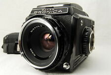 """EXC++"" Zenza Bronica S2 w/ NIKKOR-P 75mm f/2.8 + 6×6 Film Holder From japan"