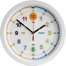 Aniclock Time Teacher clock Children Wall Clock Easy to Read clock with Silen...