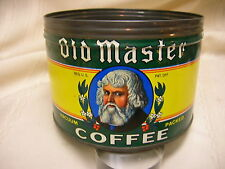 "Vintage Old Master Coffee Can Tin 4 7/8"" X 3 1/2"" The Euclid Cofee Co Cleveland"