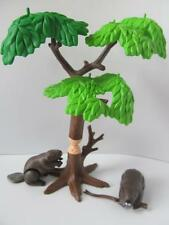 Playmobil Beavers & tree NEW scenery for Zoo/wildlife/western sets