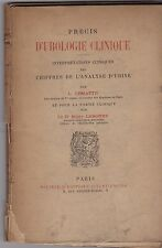 PRECIS D UROLOGIE CLINIQUE INTERPRETATION CHIFFRES DE L ANALYSE D URINE  LEMATTE