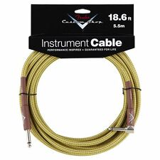 Genuine Fender Custom Shop Tweed Guitar Cable -18foot (5.5 meters) - Right Angle