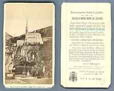 Viron, France, Lourdes La basilique Notre-Dame-du-Rosaire Vintage carte de visit