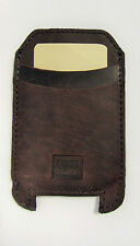 Handmade iPhone 4, 5, 5C Pouch Case Genuine Rustic Real Leather Dark RRP $55