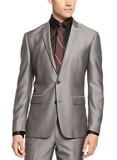 BAR III Slim Fit Shiny Gray Blazer 40 Regular 40R Two Button Sportcoat $400
