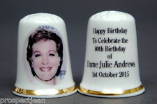 Happy Birthday To Dame Julie Andrews 80 Years China Thimble B/142