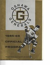 1965-66 Oshawa Generals-St. Catherines Black Hawks OHA Program Bobby Orr!!