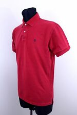 Ralph Lauren RL Mens Red Polo Short Sleeve Shirt Top Size L