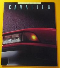 1988 CHEVROLET CAVALIER SALES SHOWROOM BROCHURE...32  pages