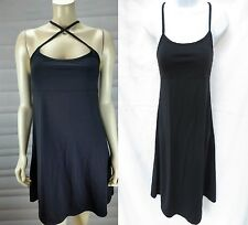 ATHLETA Womens Black Padded Built In Bra Top Convertible Stretch Swim Dress XXS