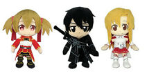 Asuna, Kirito, & Silica Stuffed Plush Dolls - (Set of 3) Sword Art Online Series