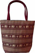 Damen Tasche Schultertasche Baumwolle Handtasche Henkeltasche Thai land neu 5204