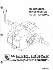 Wheel Horse Mechanical Transmission Part Repair Manual Raider Workhors C-120 160