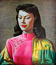 Miss Wong A1+ by Vladimir Tretchikoff High Quality Canvas Print
