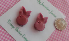 2 Pink Vintage Playboy Bunny girl Buttons or Card Craft Accessory Approx 40mm