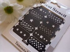 Nail Art Diecut Stencil Guide Small Christmas Stars Tips Manicure Stickers S05