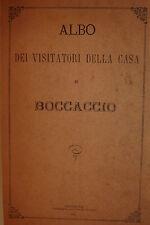 Viaggi Memoriale Storia Cronache, Albo Visitatori Casa Boccaccio 1875 Poggibonsi