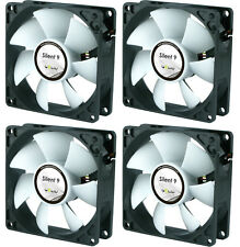 4 x GELID Solutions Silent 9 90mm Case Fans 1500 RPM, 31.3 CFM, 20.0 dBA
