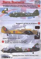 Print Scale Decals 1/48 BRISTOL BEAUFIGHTER British WWII Fighter
