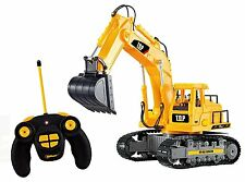 Remote Control Excavator RC Construction Tractor Vehicle Toy 7 Channel Gift