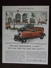 1931 The New Oldsmobile Is Fast Automobile Advertisement