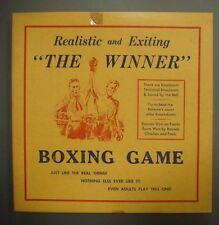 """""""The Winner"""" BOXING GAME with spinner, etc. (circa 1956, all original)"""