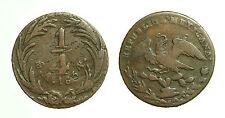 pcc1665_9) MESSICO - Repubblica (1823) - 1/4 Real - 1834