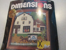 """Dimensions Needlepoint Kit """"Book Store"""" -  5"""" x 5""""  (1980) New"""