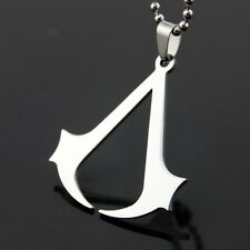 Assassins Creed Necklace Men Silver Stainless Steel Pendant Jewelry Gift Women
