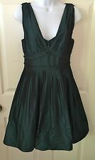 BCBG BCBGENERATION SHINY GREEN DRESS SIZE 6 PARTY COCKTAIL PROM CAUSAL