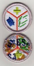"""Emergency Preparedness Merit Badge, Type K, """"BSA 2010"""" Back (2010-12), Mint!"""
